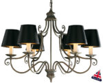 David Hunt Hidcote 6 Light Traditional Chandelier Aged Brass