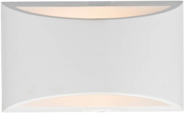 Dar Hove 1 Light Plaster Envelope Wall washer