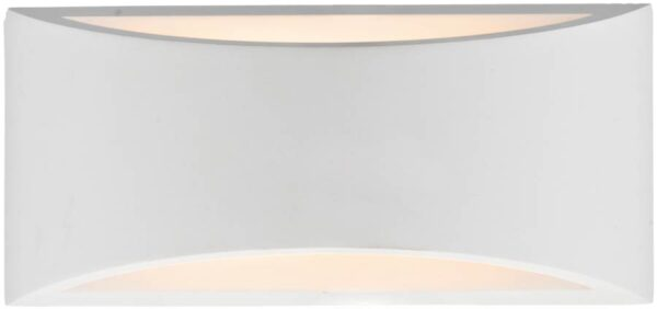 Dar Hove 2 Light Plaster Envelope Wall washer