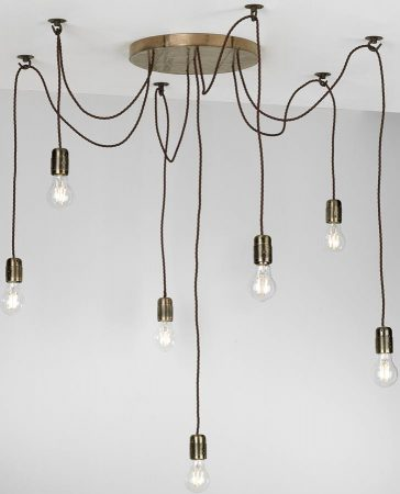 David Hunt Huckleberry Bronze Designer 7 Light Cluster Pendant