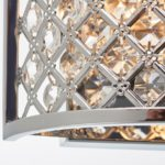 Hudson 2 Lamp Half Round Crystal Wall Light Polished Chrome