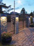 Norlys Halden Down Half Moon Outdoor Wall Lantern Graphite IP65