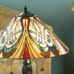 Hector Medium 2 Light Art Nouveau Tiffany Table Lamp