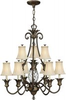 Hinkley Plantation Designer 10 Light Pineapple Chandelier Pearl Bronze