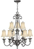 Hinkley Plantation Designer 10 Light Pineapple Chandelier Antique Nickel