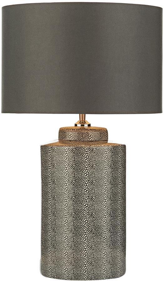 Dar Igor Grey Stingray Ceramic Table Lamp Base Only