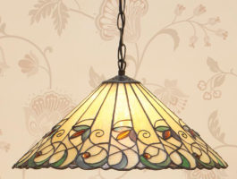 Jamelia Tiffany Pendant Light 3 Lamp Large Art Nouveau