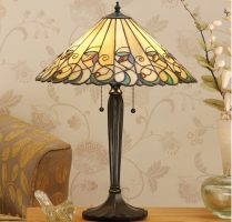 Jamelia 2 Light Tiffany Table Lamp Large Art Nouveau