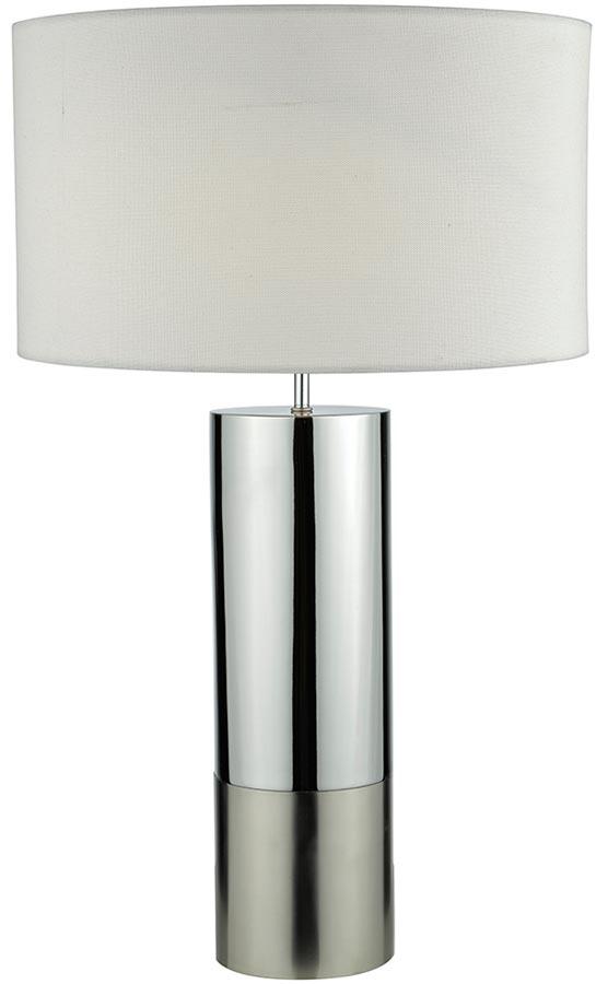 Captivating Dar Ingleby Satin And Polished Chrome Table Lamp White Shade