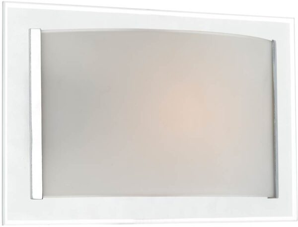 Dar Inverse Contemporary Switched Glass Wall Light Chrome