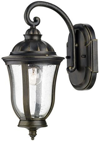 Dar Johnson Traditional Outdoor Single Wall Lantern Black And Gold