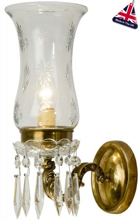 Maharaja Old Gold Single Wall Light UK Handmade