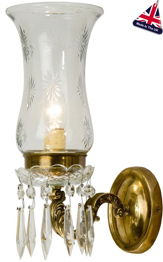 Maharaja Old Gold Single Wall Light UK Handmade