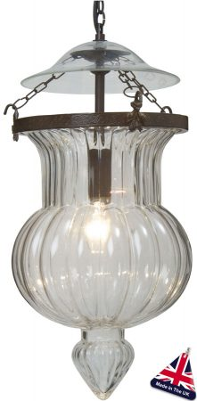 Antique Finish Clear Glass Souk Lantern UK Handmade
