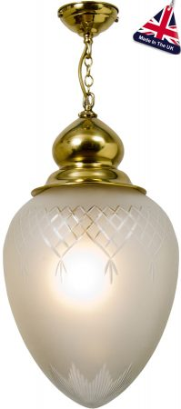 Pinestar Large Pineapple Ceiling Pendant Polished Brass