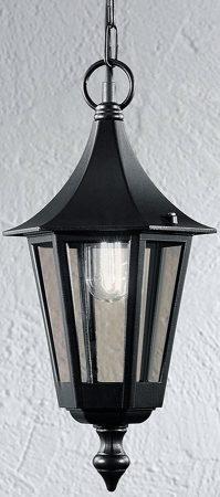 Boulevard Traditional Oudoor Hanging Porch Lantern Black