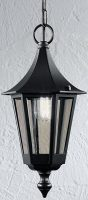 Boulevard Traditional Oudoor Hanging Porch Lantern Black