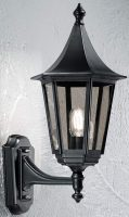Boulevard Medium Upward Outdoor Wall Lantern Black