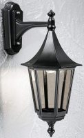 Boulevard Medium Downward Outdoor Wall Lantern Black
