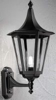 Boulevard Large Oudoor Upward Wall Lantern Black