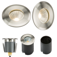 316 Stainless Steel 5W LED 70mm Recessed Ground Light IP65