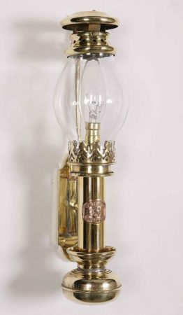 Handmade Solid Brass Vintage Replica Berth Lamp Made In Britain