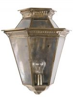 Brass Edwardian Period Outdoor Wall Passage Lantern