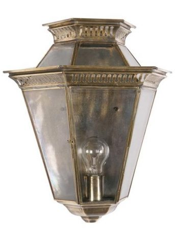 Brass Edwardian Period Outdoor Wall Passage Lantern Universal Lighting