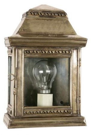 Replica Victorian Stable Lamp outdoor Wall Light Solid Brass