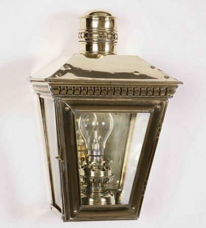 Buckingham Solid Polished Brass Outdoor Passage Lamp