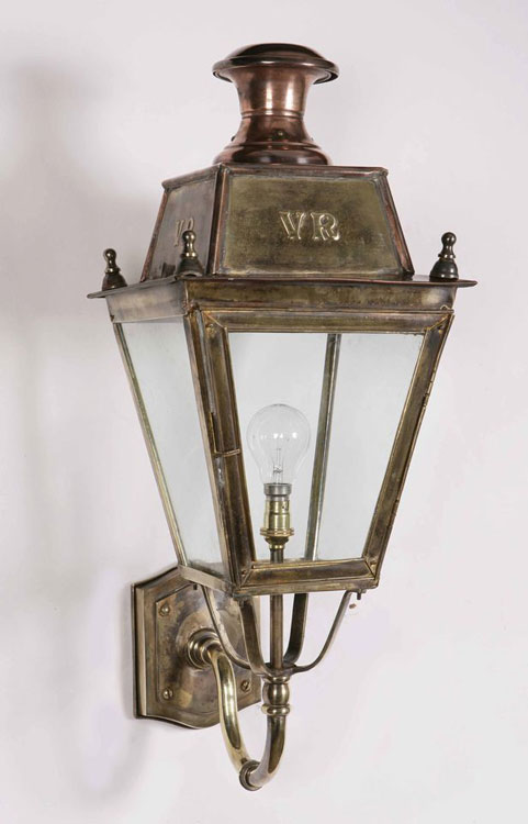 Period Outside Wall Lights : Balmoral Solid Brass Replica Victorian Outdoor Wall Lantern 425