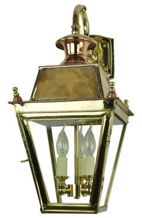 Balmoral Solid Brass 3 Light Victorian Downward Outdoor Wall Lantern