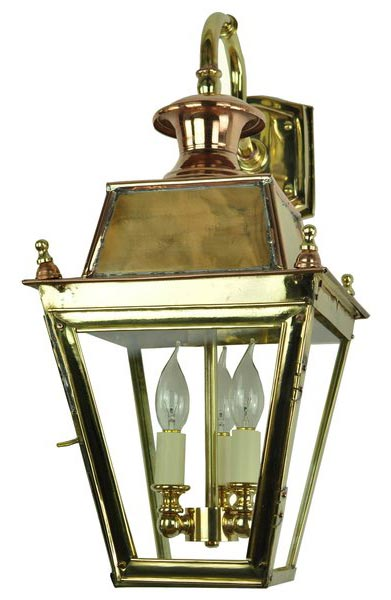 Balmoral Solid Brass 3 Light Victorian Downward Outdoor Wall Lantern Univer