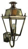 Balmoral Solid Brass Replica Victorian Outdoor Wall Lantern