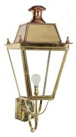 Balmoral Large Solid Brass Victorian Replica Exterior Wall Light