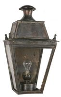 Balmoral Large Brass Victorian Flush Outdoor Wall Lantern