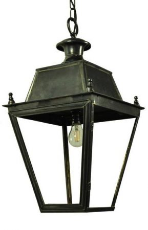 Balmoral Large Solid Brass Replica Victorian Hanging Porch Lantern
