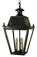 Balmoral Large Solid Brass 3 Light Victorian Hanging Porch Lantern