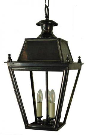 Balmoral Large Solid Brass 3 Light Victorian Hanging Porch Lantern