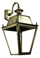 Balmoral Large Brass Replica Victorian Downward Outdoor Wall Lantern
