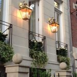Balmoral Large Brass 3 Light Victorian Downward Outdoor Wall Lantern