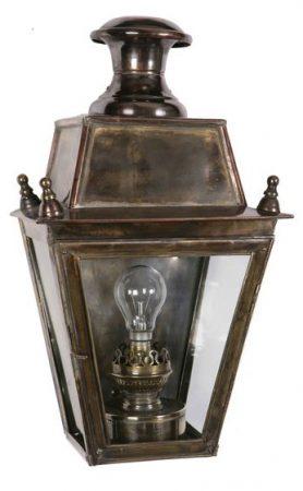 Balmoral Solid Brass Replica Victorian Flush Outdoor Wall Lantern