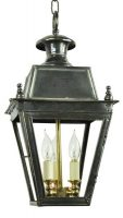 Balmoral Solid Brass 3 Light Victorian Hanging Porch Lantern