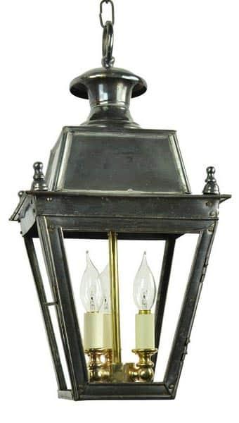 Balmoral Solid Brass 3 Light Victorian Hanging Porch Lantern Universal Ligh