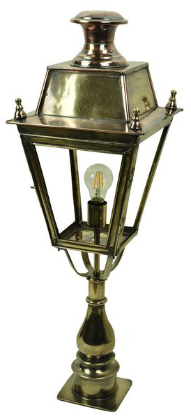 Balmoral Large Solid Brass Replica Victorian Post Top Lantern