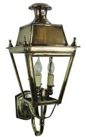 Balmoral Solid Brass 3 Light Replica Victorian Outdoor Wall Lantern