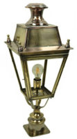 Balmoral Solid Brass Replica Victorian Outdoor Pillar Lantern
