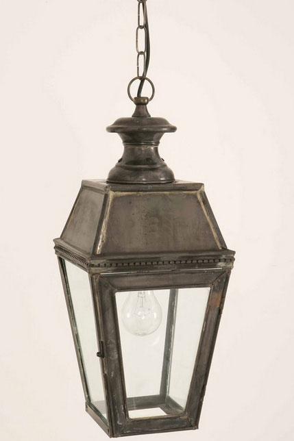 Kensington Victorian Outdoor Hanging Porch Lantern Solid Brass 431H