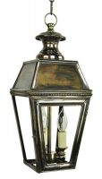 Kensington Victorian Solid Brass 3 Light Hanging Outdoor Porch Lantern