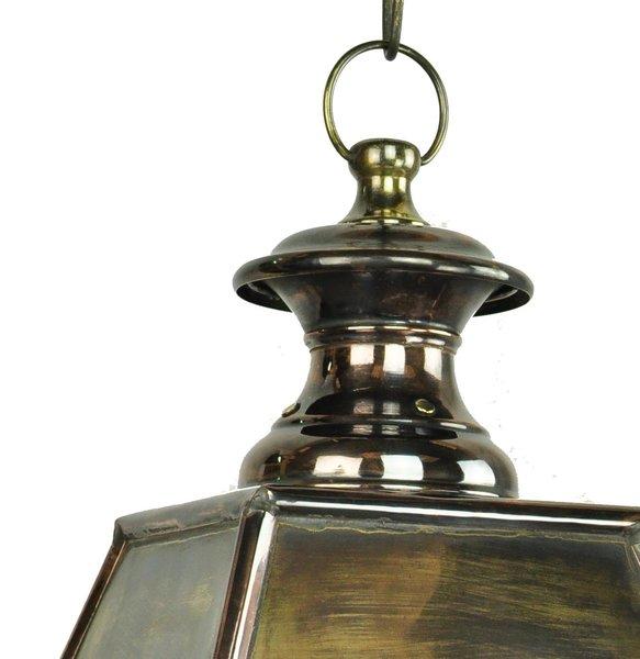 Kensington Victorian Solid Brass 3 Light Hanging Outdoor